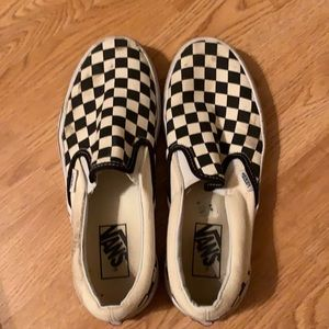 Checkered vans. Women's 8.5